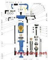 YT28型凿岩机分解图
